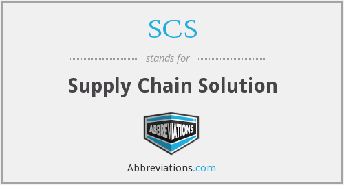 SCS - Supply Chain Solution