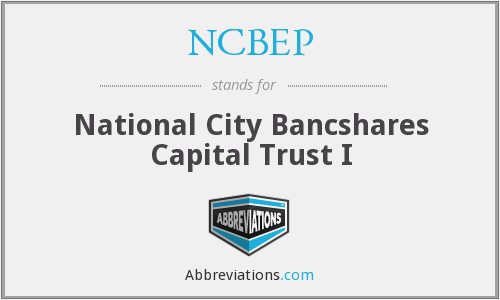 What does NCBEP stand for?