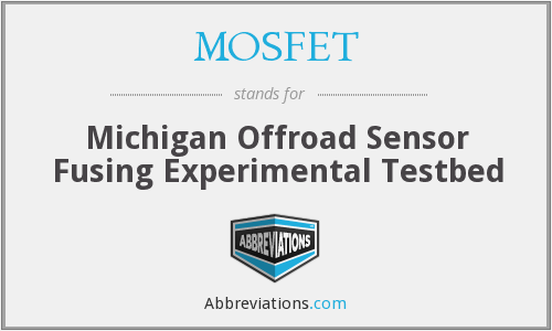 MOSFET - Michigan Offroad Sensor Fusing Experimental Testbed